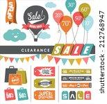 set of sale design elements | Shutterstock .eps vector #212768947