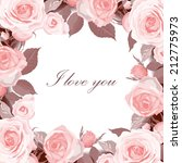 save the date floral card....   Shutterstock .eps vector #212775973