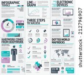colorful business infographic... | Shutterstock .eps vector #212796907