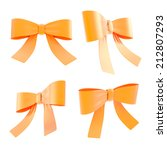 set of orange decorational... | Shutterstock . vector #212807293