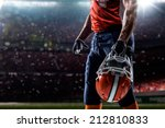 american football sportsman... | Shutterstock . vector #212810833