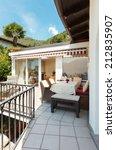 nice terrace of a villa on the... | Shutterstock . vector #212835907
