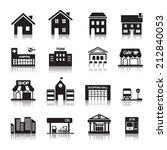 building icon | Shutterstock .eps vector #212840053