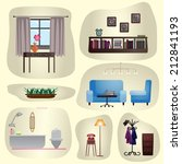 set of vintage furniture in an...   Shutterstock .eps vector #212841193