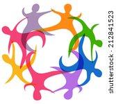 abstract teamwork symbol | Shutterstock .eps vector #212841523
