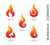 flame's symbol set | Shutterstock .eps vector #212846653