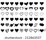 heart icons | Shutterstock .eps vector #212863537