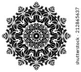oriental vector pattern with... | Shutterstock .eps vector #212865637