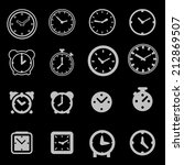 clock icon set | Shutterstock .eps vector #212869507