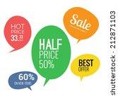 sale and discounts speech... | Shutterstock . vector #212871103