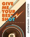 modern billiards poster with... | Shutterstock .eps vector #212874703