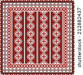 vector ethnic ornament on the... | Shutterstock .eps vector #212882437