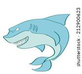 a blue shark on a white... | Shutterstock .eps vector #212900623