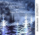 christmas and new year... | Shutterstock .eps vector #212902177