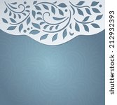 invitation cute card  | Shutterstock .eps vector #212932393