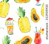seamless dessert pattern. | Shutterstock . vector #212935933