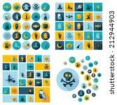 halloween symbols collection.... | Shutterstock .eps vector #212944903