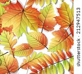 colorful autumn seamless leaves ...