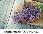 lavender flowers in a basket... | Shutterstock . vector #212947753