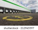 big gray distribution warehouse ... | Shutterstock . vector #212965597