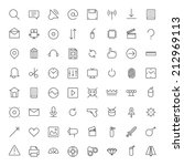 thin line icons for user... | Shutterstock .eps vector #212969113