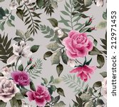 seamless floral pattern with... | Shutterstock .eps vector #212971453