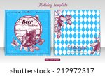 oktoberfest vintage backgrounds ... | Shutterstock .eps vector #212972317
