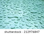 Water Drops Wetting A  Metalli...