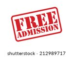 free admission red rubber stamp ... | Shutterstock .eps vector #212989717