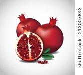 pomegranates eps 10 vector eps... | Shutterstock .eps vector #213007843