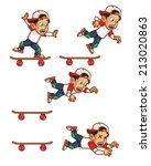 Falling Skater Boy Animation...