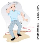 first aid person reeling with... | Shutterstock .eps vector #213037897