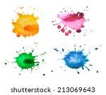 watercolor blots | Shutterstock . vector #213069643