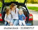 two adorable little sisters and ... | Shutterstock . vector #213085717