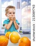 little beautiful boy in the... | Shutterstock . vector #213089743