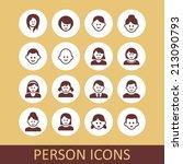 person icon set | Shutterstock .eps vector #213090793