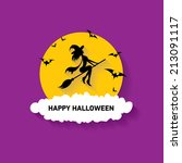 vector silhouette of witch... | Shutterstock .eps vector #213091117