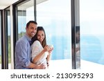 romantic happy young couple... | Shutterstock . vector #213095293