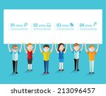 people talking and advertise... | Shutterstock .eps vector #213096457