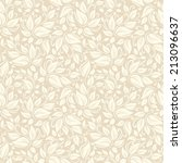 Vector Seamless Beige Floral...
