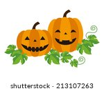 Stock vector halloween jack o lantern vector illustration 213107263