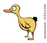 yellow duck | Shutterstock .eps vector #213111103