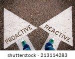 proactive and reactive dilemma... | Shutterstock . vector #213114283