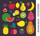 fruit set | Shutterstock .eps vector #213121063