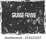 grunge frame. vector template   Shutterstock .eps vector #213122227