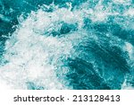 Background Of Stormy Water Wit...