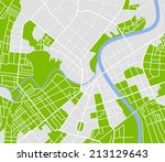 editable vector street map of... | Shutterstock . vector #213129643