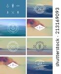 trendy retro vintage insignias... | Shutterstock .eps vector #213169093