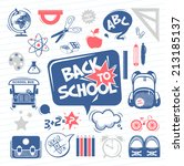 back to school icons | Shutterstock .eps vector #213185137