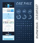 one page website design | Shutterstock .eps vector #213185227